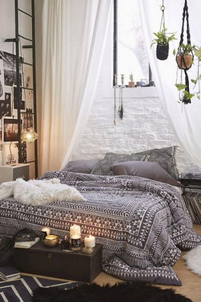89 Cozy Amp Romantic Bohemian Style Bedroom Decorating Ideas